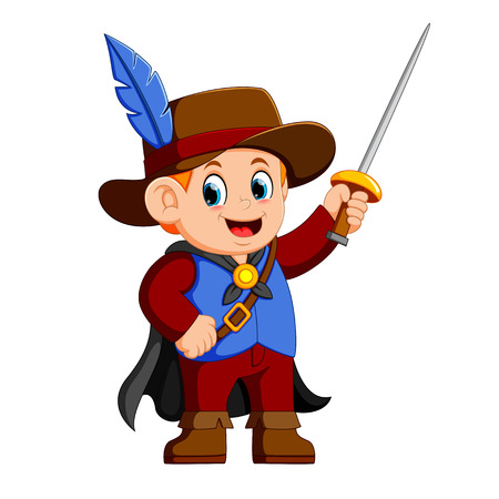 musketeer with sword