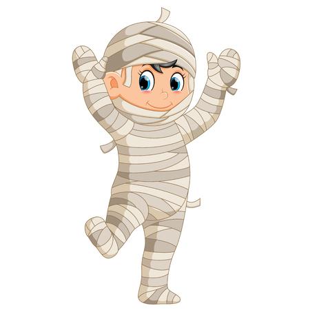 Mummy walking Ilustração