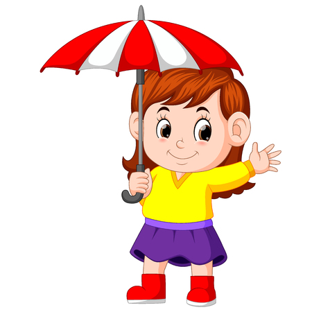 girl with an umbrella