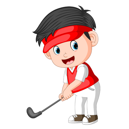 The Children profesional Golfer Ilustration