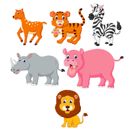 the collection of the wild animals in the different species