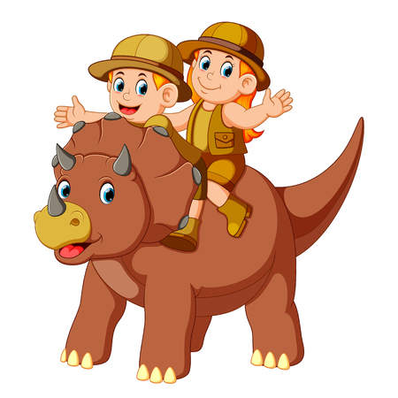 the adventurer riding the saurolopus and waving their hands