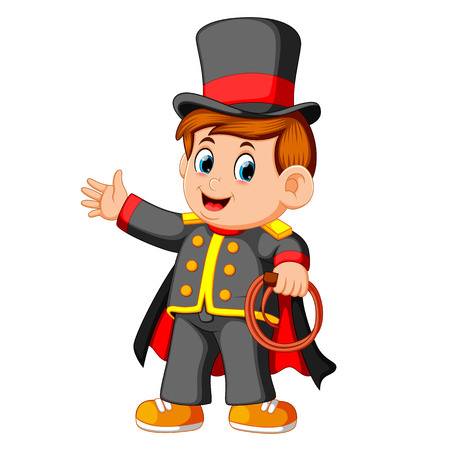 chłopiec ubrany w kostium magika