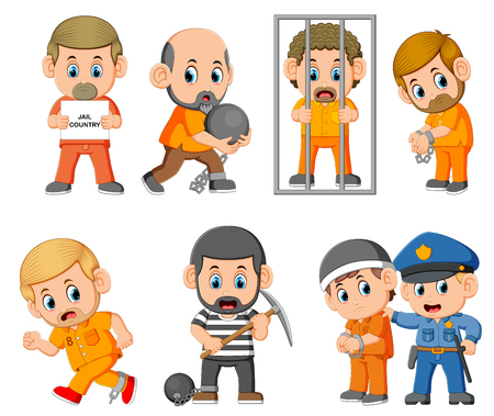 the punishment of the the criminal on the jail