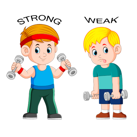 Adjetivo opuesto con fuerte y débil.