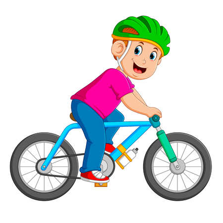 the professional cyclist is riding on the blue bicycle