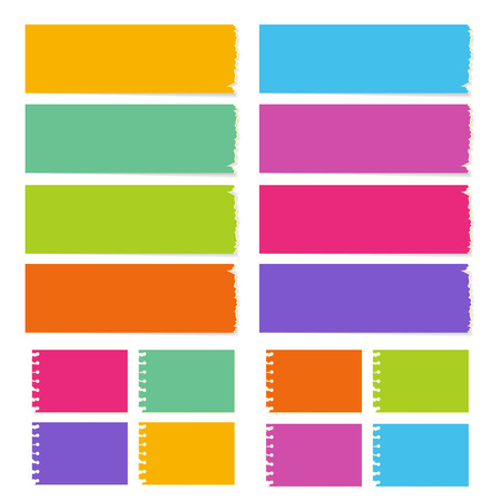 the collection of the blank board with the different color and shape Stockfoto