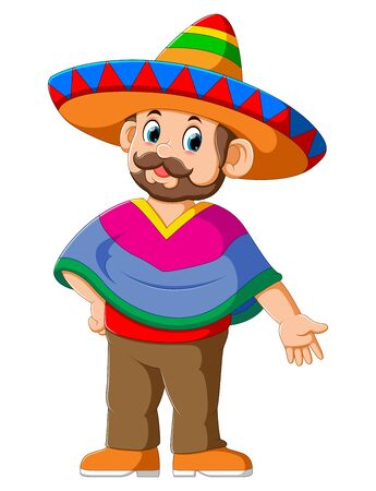 Happy Mexican Cartoon Character of illustration