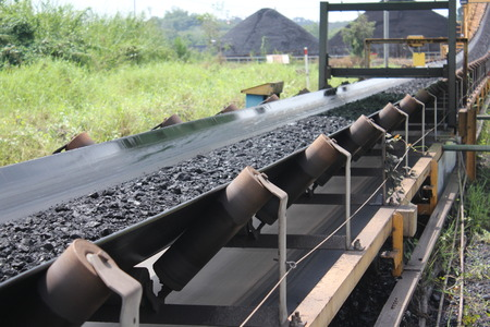 shipped: Black coal shipped from stockpiles to barges