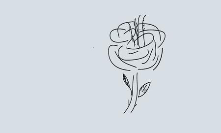 ser humano: floral del símbolo de amor y ser humano armonía