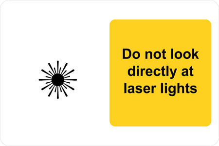 Safety sign do not look directly at laser light Illustration