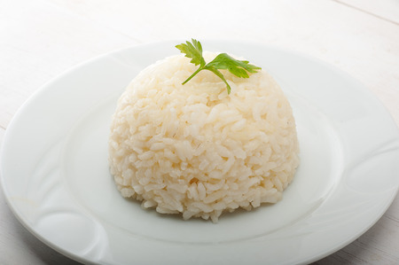 Close up of a plate of Turkish Pilaf - Pilav Stok Fotoğraf