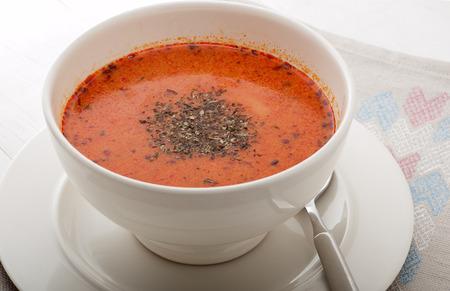 Close up of traditional Turkish soup tarhana 写真素材