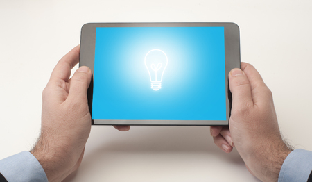 A digital creative idea displayed on a tablet device