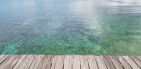 Beautiful Beach and Traditional Wooden Dock