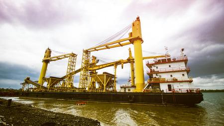Crane Barge Ship Construction