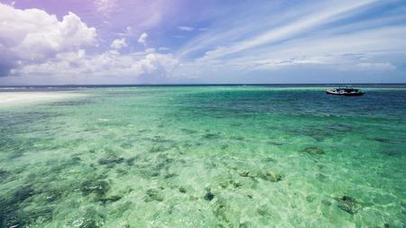 Beauiful Tropical Beach, Clear Sea Water