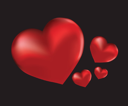 lovestruck: Four red hearts