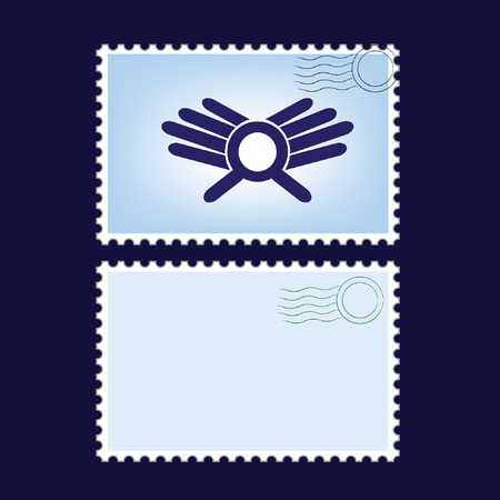 blanks: illustration of a blanks post stamps