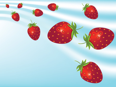 gulp: Abstract background with strawberries Illustration