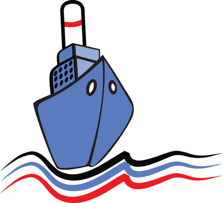 Sailing ship emblem.  Vector