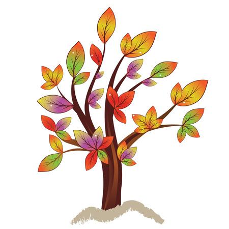 Árbol de otoño colorido abstracto