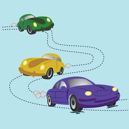Cartoon cars. illustration. Vector