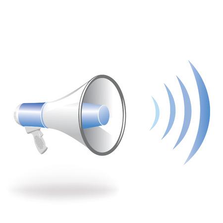 orador: Onda azul vertical de altavoz  Vectores