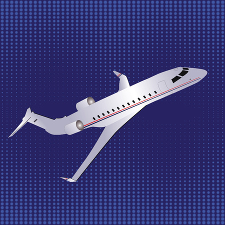 Template with airplane illustration  Vector