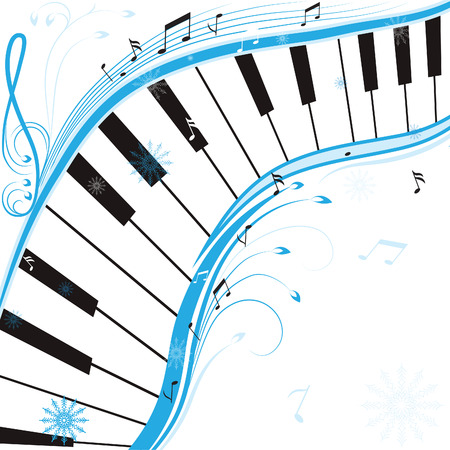 Winter music, christmas background . illustration. Stock Vector - 8294966