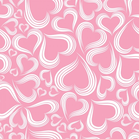 feb: Excellent seamless valentine background. Vector illystration.