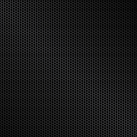 metal mesh: Hexagon metal background with light reflection ideal wallpaper