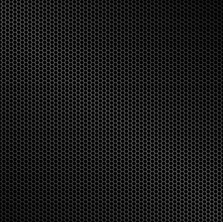 Zeshoek metalen achtergrond met licht reflectie ideale behang Vector Illustratie