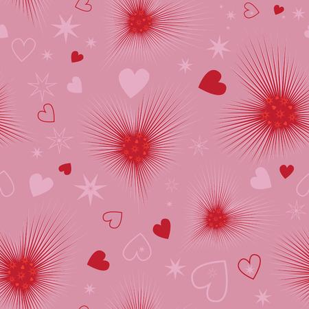 lovestruck: Excellent seamless valentine background. Vector illustration. Illustration