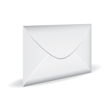 close icon: Vector icon closed white mail envelope isolated