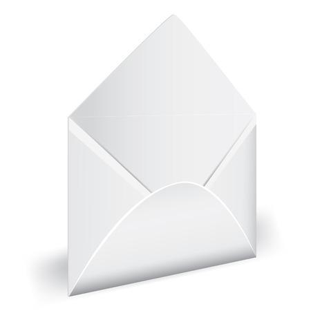 Open empty envelope with letter. illustration. Element for design. Stock Vector - 8710852