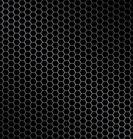 wire mesh: illustration of hexagon metal background with light reflection ideal texture