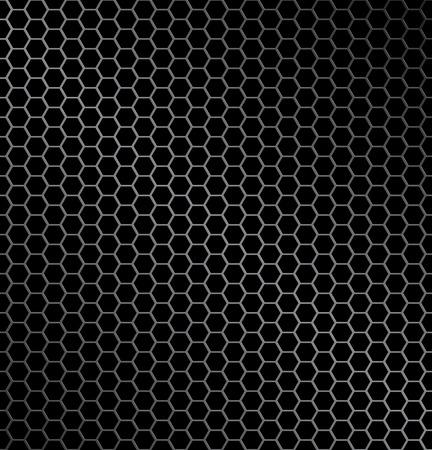 Ilustración de fondo de metal de hexágono con textura ideal de reflexión de la luz