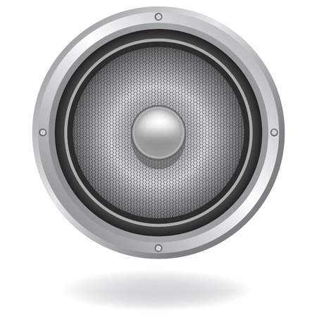 Audio speaker icon, illustration. Element for design. Vector