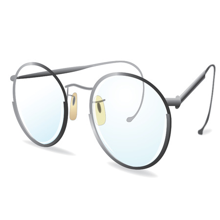 Silver eye Glasses. Vector illustration. Element for design. eps10 Vector