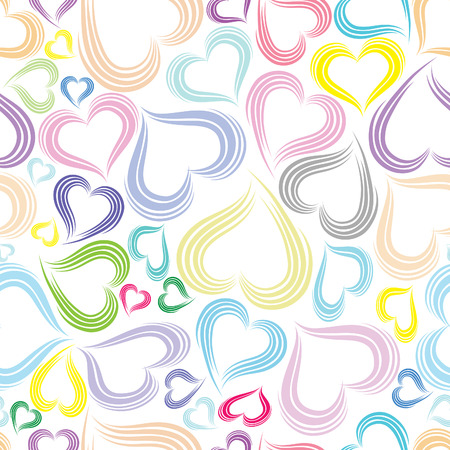 february 14th: Excellent colorful seamless valentine background. Vector illustration.