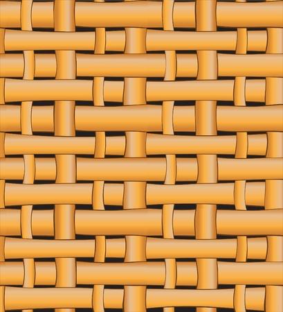 Seamless wicker basket pattern background. Vector illustration. Vector