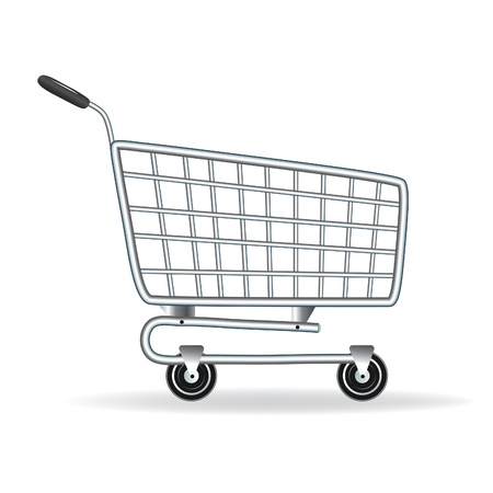 supermarket trolley: Shopping cart icon. Vector illustration. Element for design.