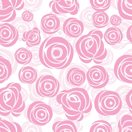 Seamless  flower background with rose, element for design, vector illustration. Vector