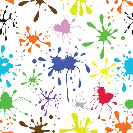 dripping paint: artistic ornament with drop, ink coloured grunge blot,wallpaper, artistic ornament. Tileable. Illustration