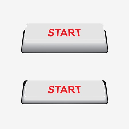 Start button and pressed button. Button on/off.Element for design Stock Vector - 9099854