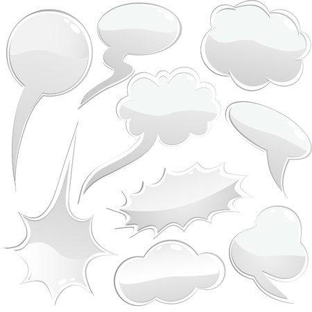 Set of speech and thought bubbles, element for design Vector