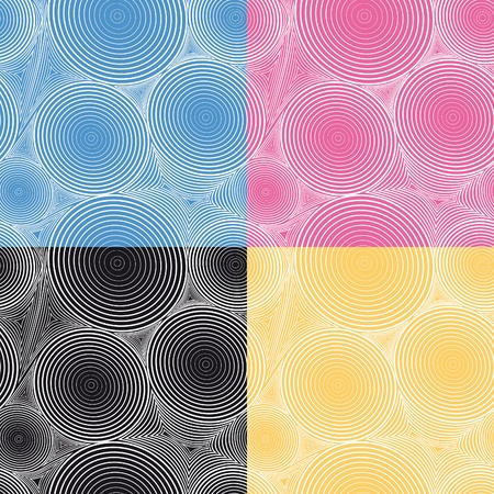 Abstract seamless background with circle and triangless. Vector illustration. Stock Vector - 9239769