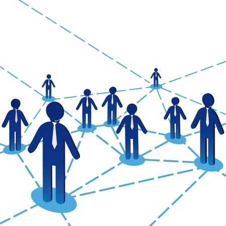conectividade: Business team people diagram background. Network internet communiation. Vector illustration