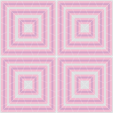 Abstract seamless square pattern background for wallpaper. Ceramic texture ornament vector illustration. Stock Vector - 9464915